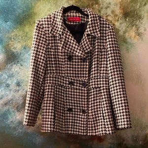 Houndstooth Peacoat